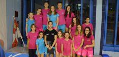 Los nadadores sorianos en Segovia.