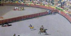 Ilustración de un festejo taurino del XIX.