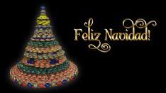 Singular árbol de Navidad en Martialay.