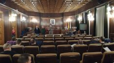 Bárez, Sainz y Mínguez presiden la reunión. SN