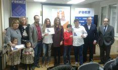 Ganadores del I Concurso de Escaparate de Cine de Soriacentro. /SN