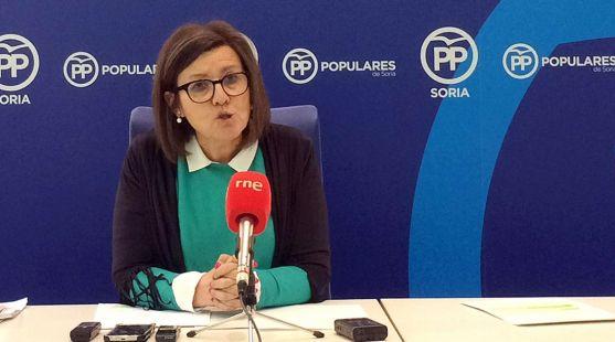 La presidenta del PP soriano este lunes.