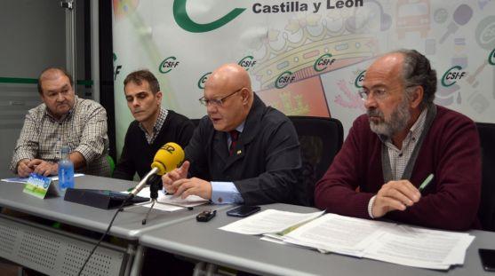 Carlos Hernando (izda.) Javier Hernando, Juan Carlos Gutiérrez y Pedro Núñez.