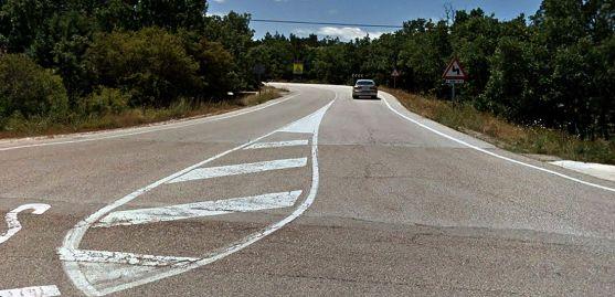 La carretera en su entrada por la N-234.
