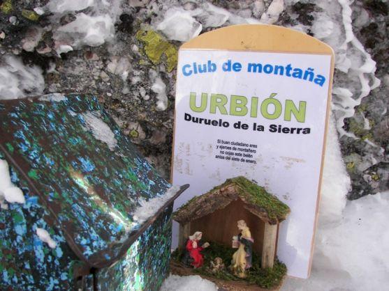 Imagen del belén en el Urbión/ CLUB MONTAÑA DE DURUELO
