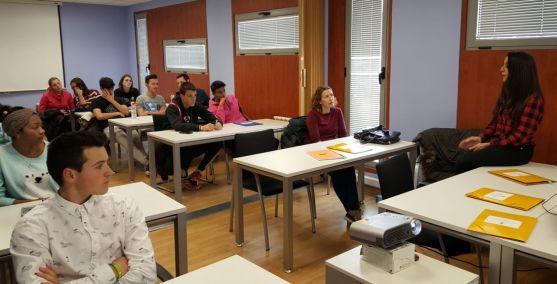 Un taller de empleo del Semillero para alumnos de Secundaria./Ayto.