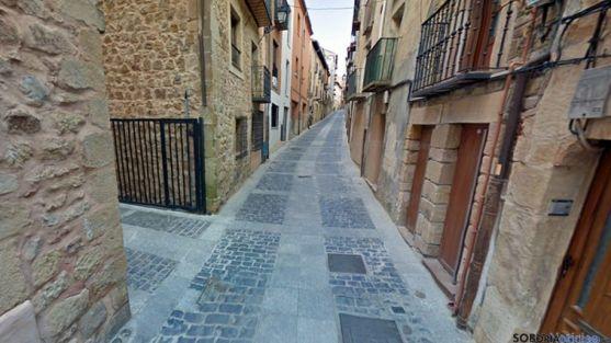 La calle Zapatería, en el casco antiguo de Soria./SN
