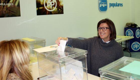Angulo, en la votación de compromisarios. /PP