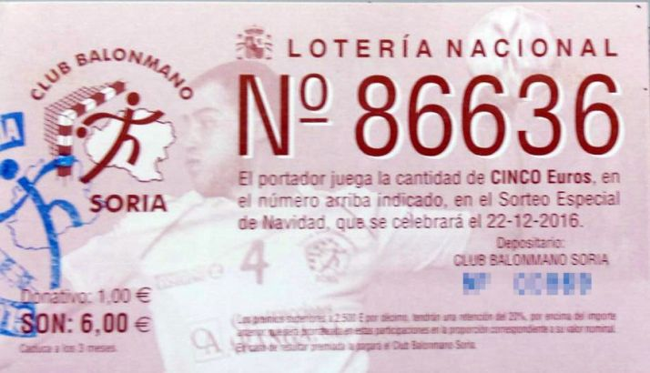 Boleto del BM Soria./SN
