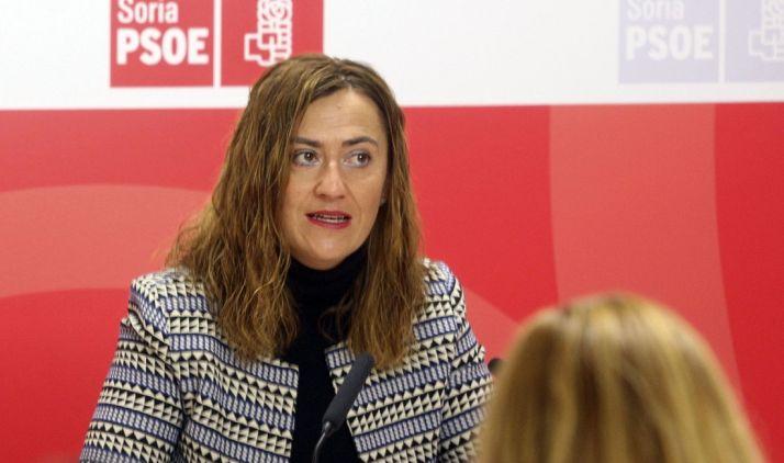 Virgina Barcones este lunes en rueda de prensa./SN
