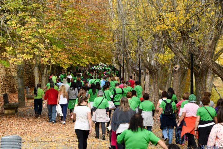 Las camisetas verdes, símbolo de la jornada.