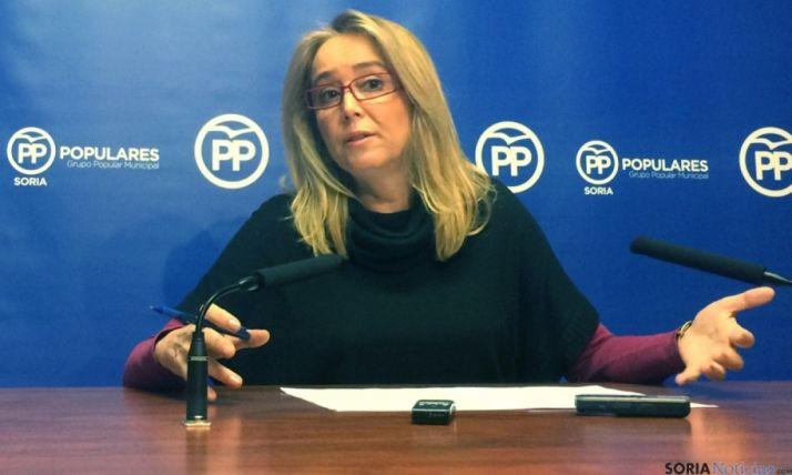 La concejal del PP María José Fuentes./SN