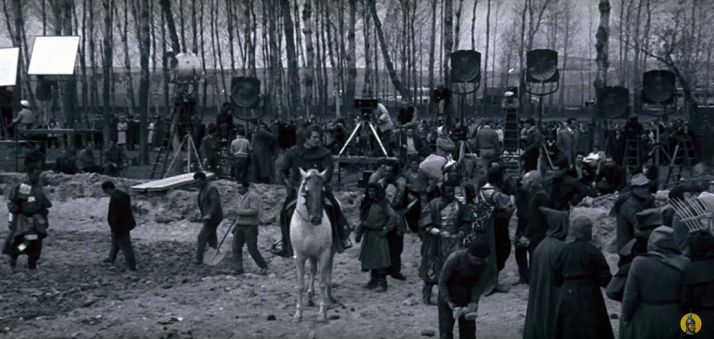 Imagen del rodaje de 'El Cid'.
