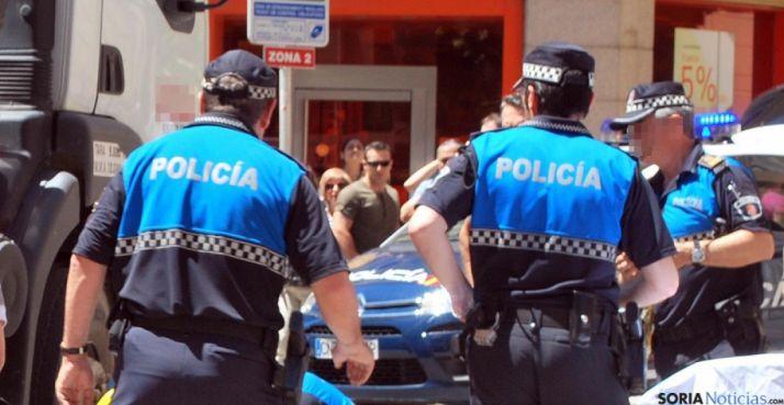Agentes de la Policía Municipal de Soria. /SN