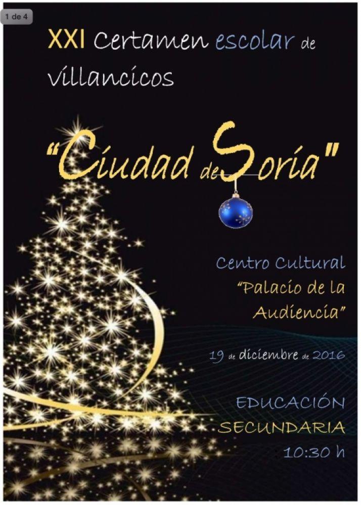 13 centros escolares participan en XXI Certamen de Villancicos Ciudad de Soria
