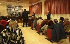 La rueda informativa este lunes en el Palacio Provincial. /SN