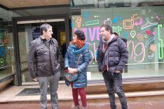 Santamaría (izda.), Calvo y Crespo. /Ayto.