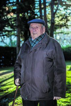 Francisco Ruiz en el parque de La Dehesa en Soria/ SN