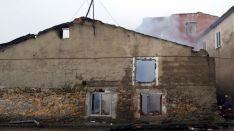 La casa donde se originaron las llamas./SN