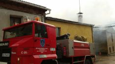 Los bomberos de San Leonardo en el lugar./SN
