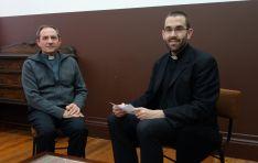 Obispo Abilio Martínez Varea y Rubén Tejedor. / Diócesis.