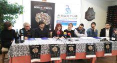 Imagen de la presentación del programa 'Soria y Trufa', en el restaurante Santo Domingo II. /SN