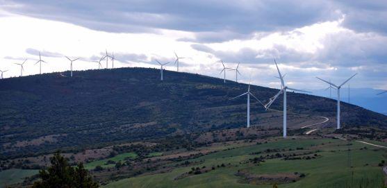 Un parque eólico en las inmediaciones del Madero, en Soria. /SN