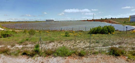 Una instalación de energía solar fotovoltaica en las inmediaciones de la capital. /GM