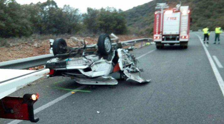 Imagen del vehículo siniestrado. /Dip.