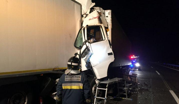 El accidente se producía en el término de Somaén, pedanía de Arcos.