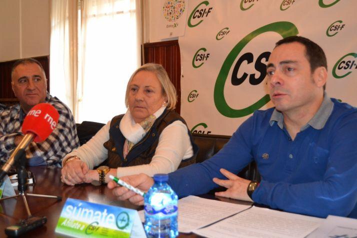 Raúl Castrillo, Reyes Martínez y Juan Carlos Prieto. /SN