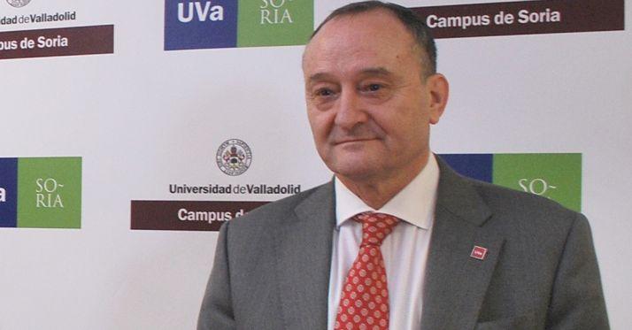 El rector de la UVa, Daniel Miguel San José, este viernes./SN