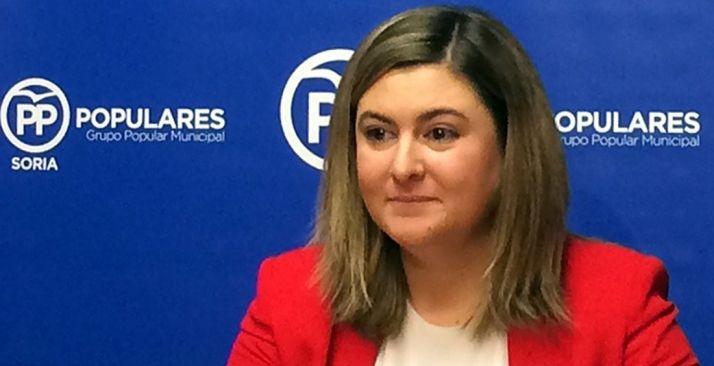 Eva García, concejal del PP municipal.