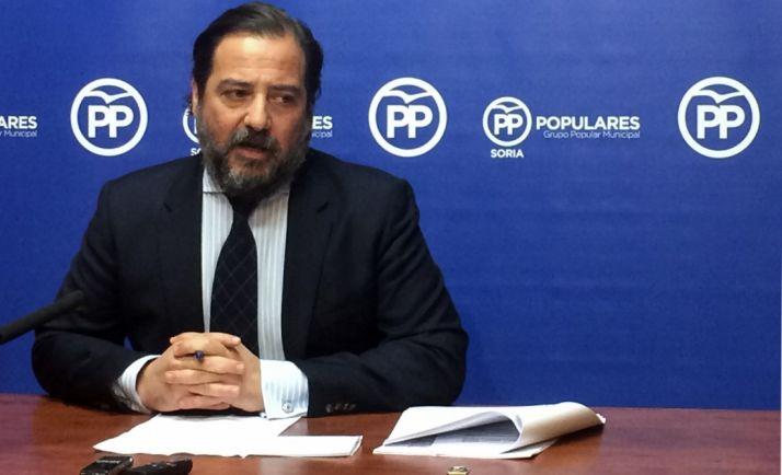 José Manuel Hernando este martes en rueda informativa.