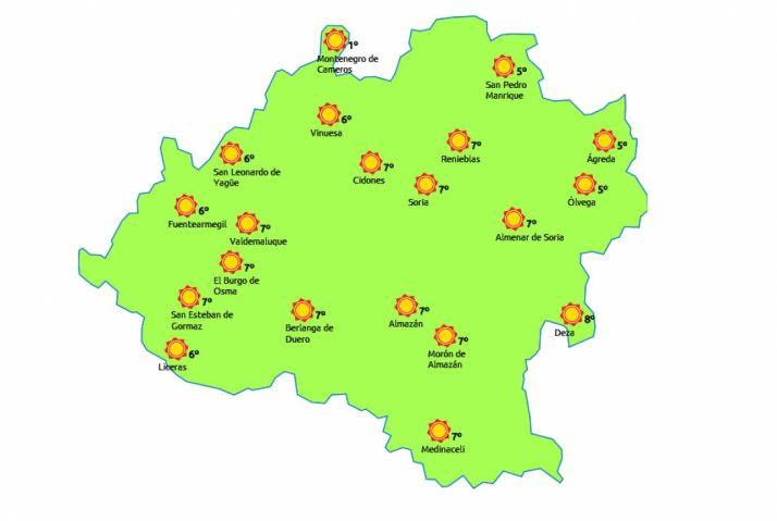 El mapa para hoy miércoles./eltiempo.es