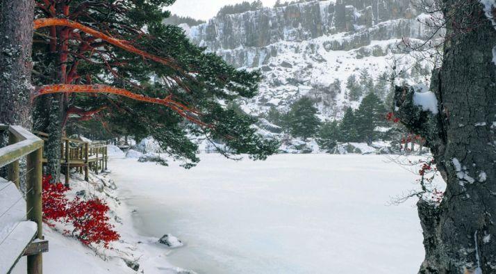 Estampa invernal de la Laguna Negra./SN