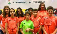 Los badmintonianos sorianos en Tordesillas.