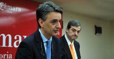 Jorge Morro Villacián, junto a Alberto Santamaría, este jueves en la Cámara. /SN