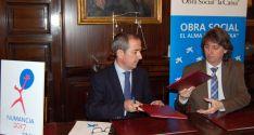 José Manuel Bilbao y Carlos Martínez este viernes en el ayuntamiento. /Ayto.