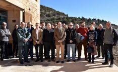 Miembros de la junta rectora, en la Casa del Sabinar este martes. /Jta.