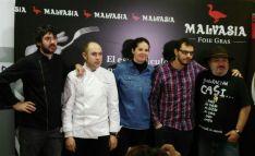 Varios de los restauradores con Estrella Michelín participantes en la jornada./A.H.