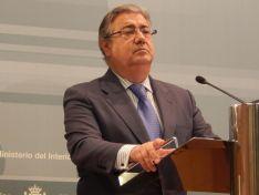 El Ministro del Interior en la presentación del informe. MI