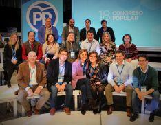 Representantantes del PP de Soria con Mª Dolores de Cospedal.