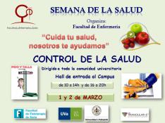Cartel de la Semana de la Salud del Campus universitario de Soria.