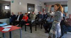 Una imagen de la reunión esta tarde de viernes. /SN