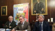 Joaquín García-Medall, Antonio Bueno y Jesús Bárez durante la presentación.