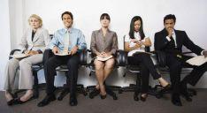 Esperando la entrevista de trabajo.