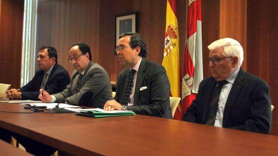 Ruiz Liso, De Marichalar, López y Barrio este viernes en la Delegación Territorial de la Junta. /SN