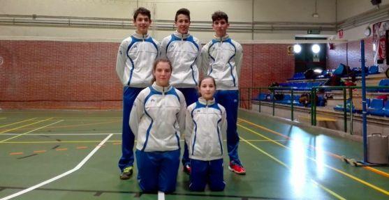 Jugadores Sub-17 del Club Bádminton Soria.