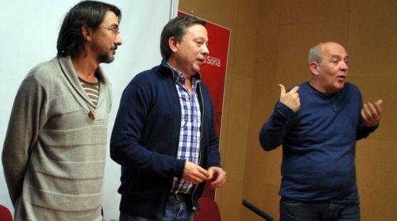 Romero (izda.), Sainz y García en una imagen de archivo. /SN